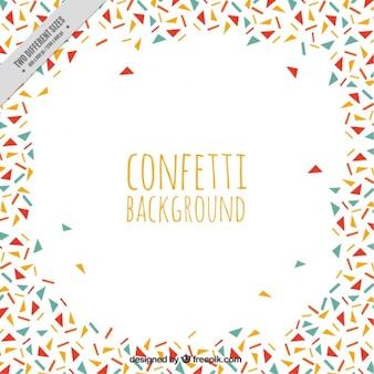 Confetti background with irregular figures
