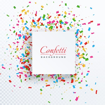 Confetti background with text space