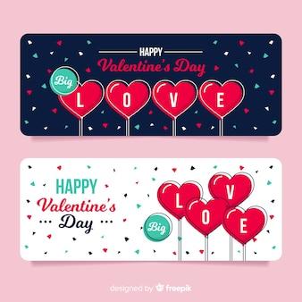 Набор конфетти баннеров Валентина