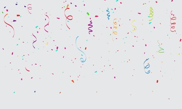 Празднование конфетти карнавальных лент.