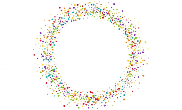Confetti decoration circle frame