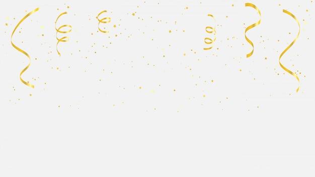 Confetti gold ribbons