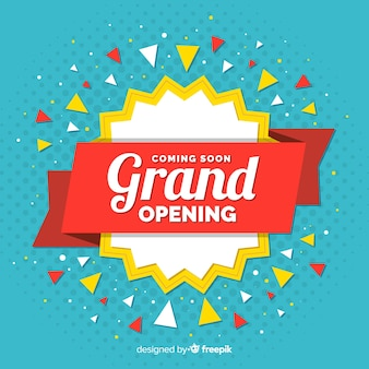 Confetti grand opening background