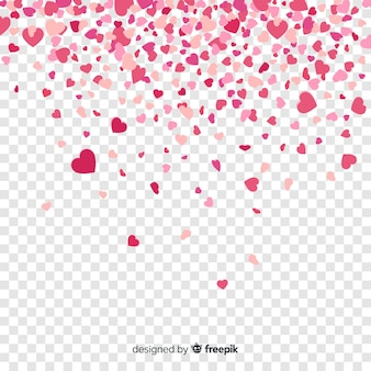 Confetti heart background