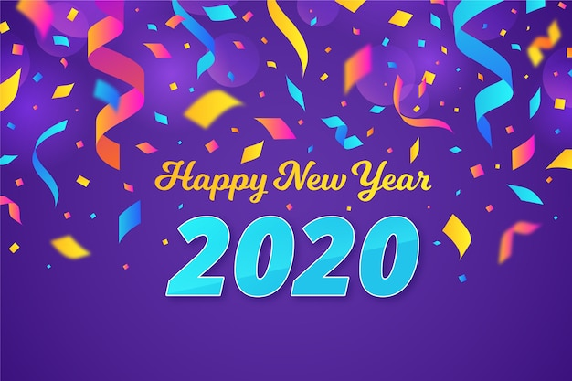Confetti new year 2020 background