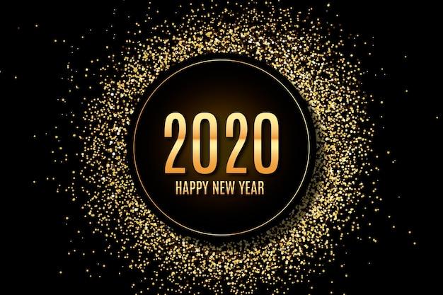 Confetti new year 2020 background