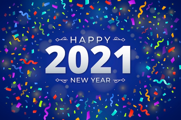 Confetti new year 2021 background