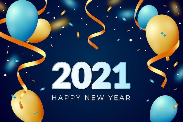 紙吹雪新年2021背景
