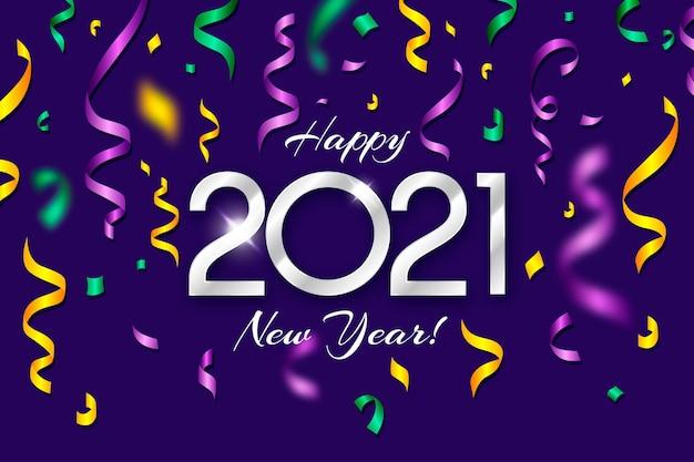 Конфетти новый год 2021 фон