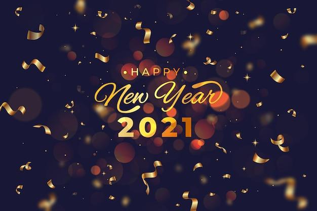 Confetti new year 2021 background