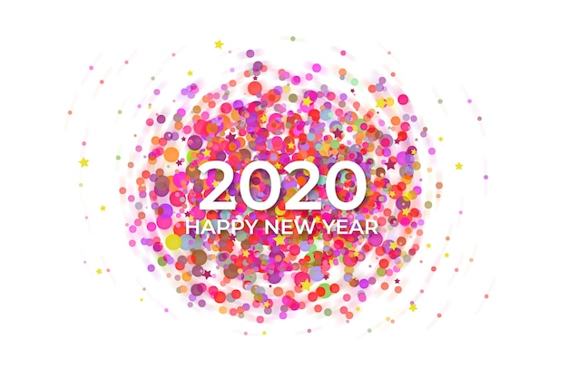 Confetti new year background