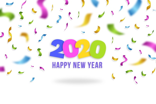 Confetti wallpaper new year 2020