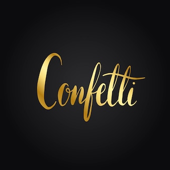 Confetti wording typography style vector