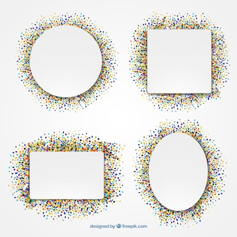 Conffeti geometrica frames