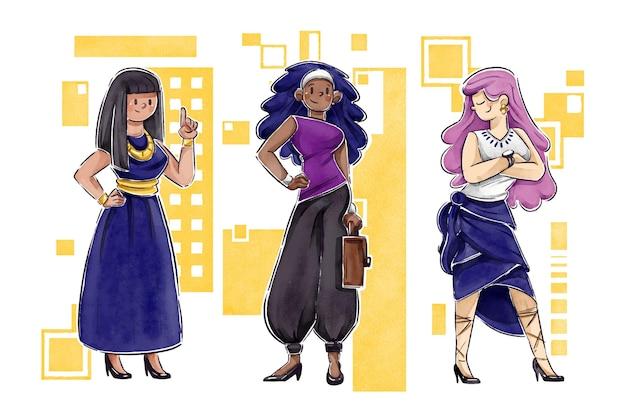 Уверенные женщины-предприниматели иллюстрированы