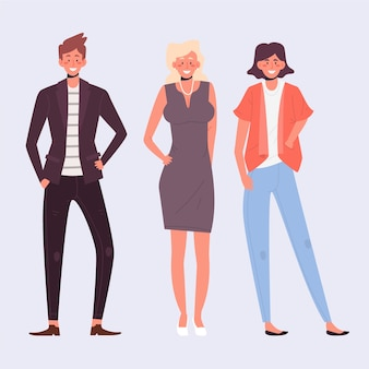 Confident people collection illustration