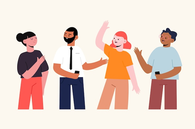 Confident people collection of illustration