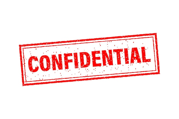 Confidential on red