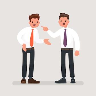 Conflict at work between workers