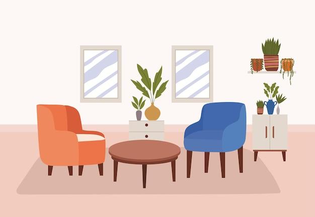Confortable house representation
