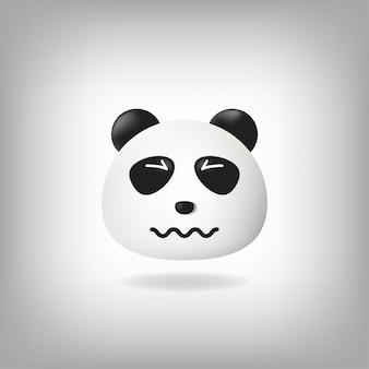 Confounded panda emoji with scrunched eyes crumpled mouth.