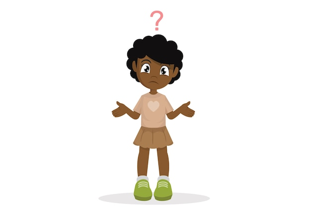 Confused african girl.