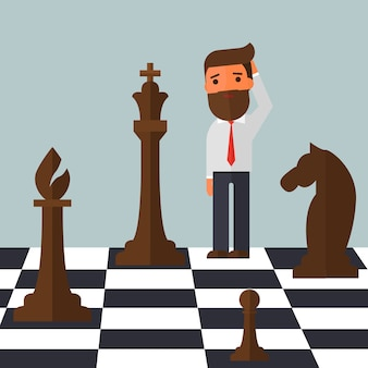 Путать бизнесмена на шахматной доске