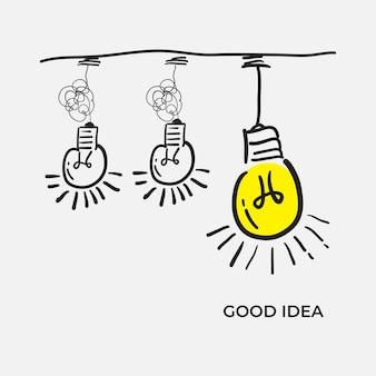 혼란 명확성 또는 경로 벡터 아이디어 개념입니다. 낙서 스타일로 콤플렉스 단순화