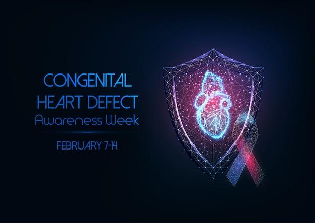 Congenital heart defect awareness week concept