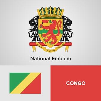 Congo national emblem and flag