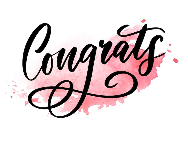 Congrats card lettering calligraphy