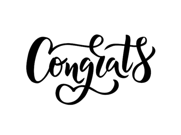 Congrats hand lettering word