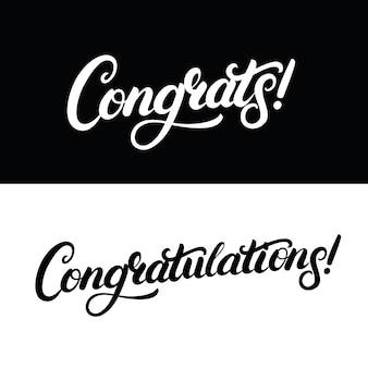 Congrats hand written lettering