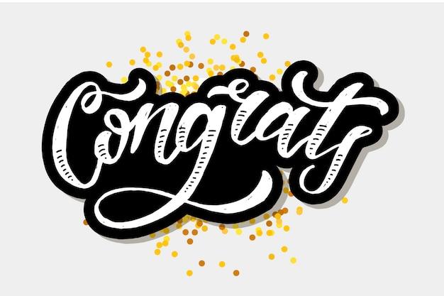 Congrats lettering