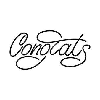 Congrats monoline lettering