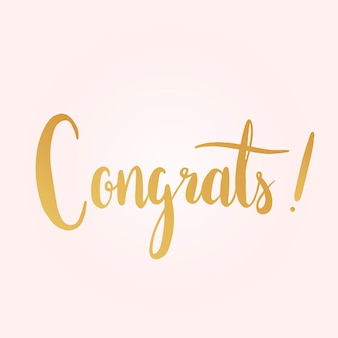 Congrats typography style vector