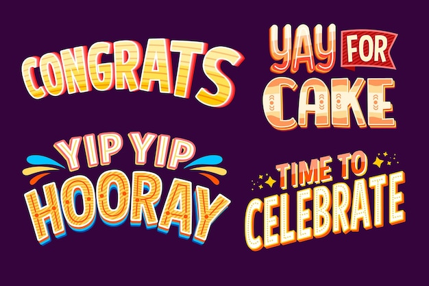 Congratulation greetings lettering