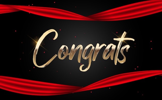 Congratulations abstract design template background.