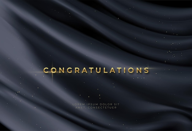 Congratulations background with gold lettering
