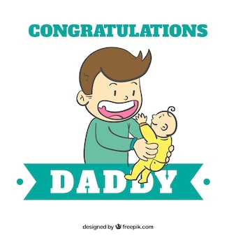 Congratulations daddy Free Vector