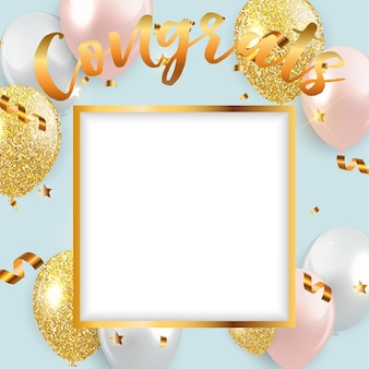 Congratulations design template background