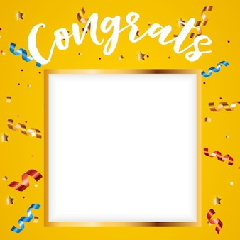 Congratulations design template background