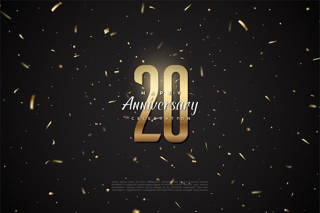 20周年の背景おめでとうございます