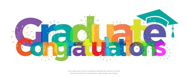 Congratulations graduate colorful