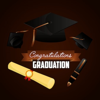 Congratulations graduation background