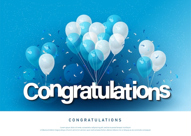Congratulations greeting card lettering template