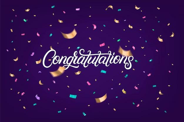 Congratulations hand written lettering text