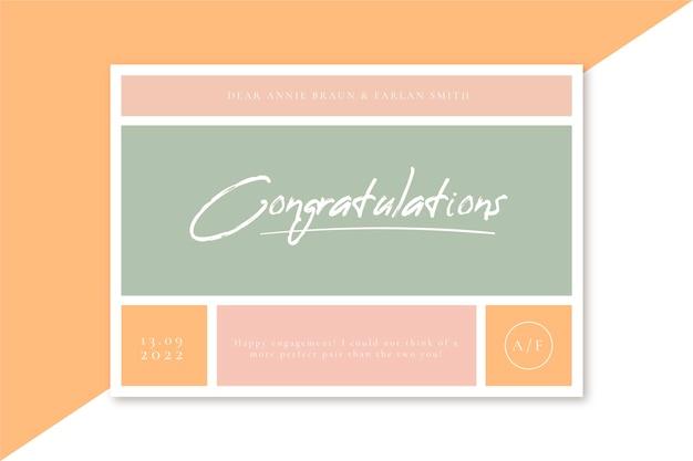 Congratulazioni per il giorno del tuo matrimonio