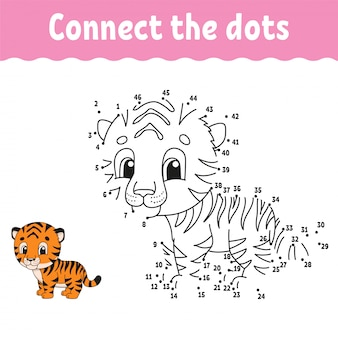 Connect the dots, drawing game for kids
