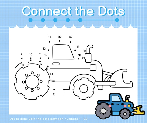 Connect the dots grader - dot to dot games for children counting number 1-20
